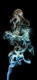 colored smoke isolated on a black background
