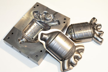 Metal cnc details. Mold/ blank. Milling industry.
