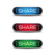 Vector share button set
