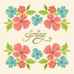 Spring vintage card with flowres