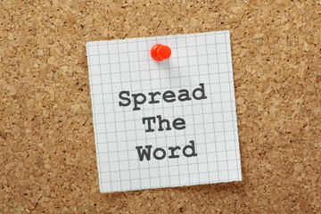Spread The Word Marketing Concept
