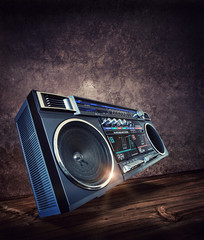 retro music stereo