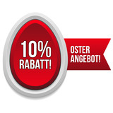 10 Prozent Oster Rabatt Button in rot