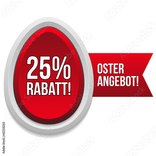 25 Prozent Oster Rabatt Button in rot