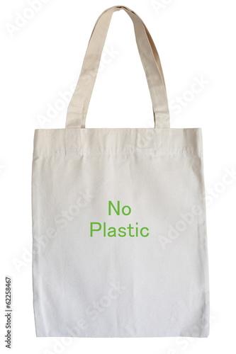cotton eco bag isolated on white background - 62258467