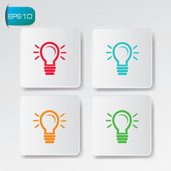 Ideas buttons,vector