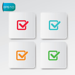 Check list buttons,vector