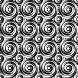 Design seamless monochrome swirl pattern. Uncolored geometric ci