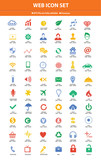 Website icon set,Colorful version