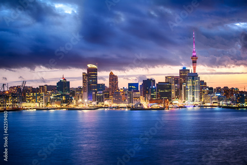 Deurstickers Oceanië Auckland skyline