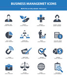 Business Management icons,Blue version