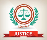 Justice badge,vector