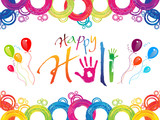 abstract colorful holi background