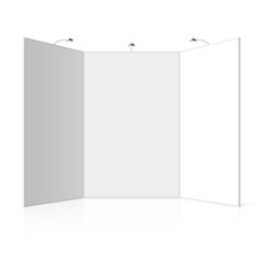 Portable folding presentation display board, exhibition stand
