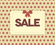 Retro sale poster, red dots background