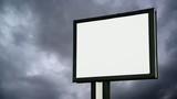 Blank Billboard with empty screen over cloud time lapse