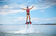 The new spectacular sport called  flyboard - 62261056