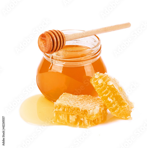 Staande foto Snoepjes Sweet Honey and honeycomb