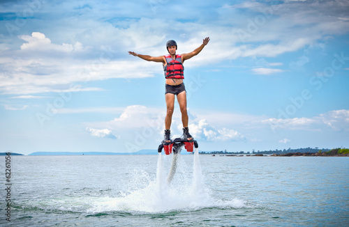Canvas Extreme Sporten The new spectacular sport called flyboard