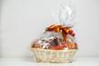 gift basket against grey background - 62261281