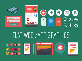 Flat web/app graphics