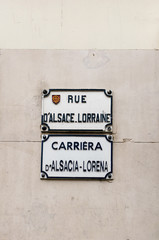 Street sign in Toulouse