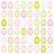 48 Slim Easter Eggs Pattern Pastel Green