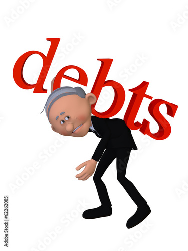 Old man with DEBTS