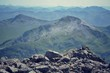 View from the Ben Nevis summit - filtered picture