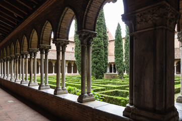 Cloister of Jacobins Church. Toulouse.