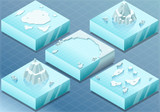 Isometric Arctic Sea with Iceberg