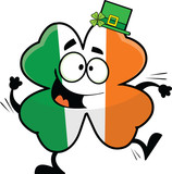 Cartoon Dancing Irish Shamrock