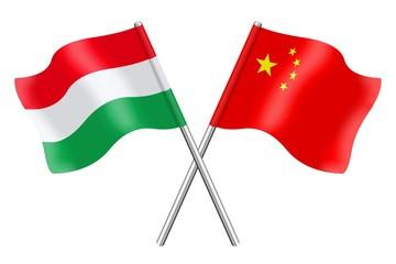 Flags: Hungary and China