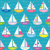 colorful boats pattern