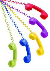 multi color Hanging Phone with cable Receivers