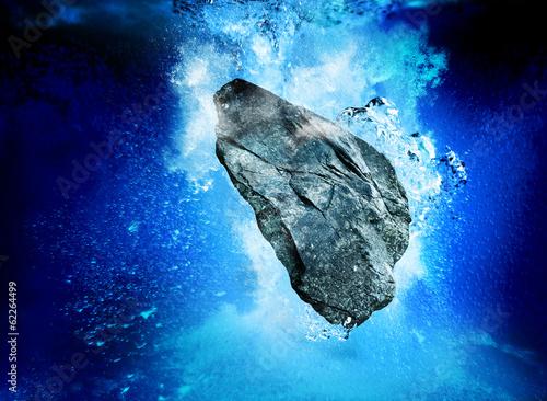 sinking rock