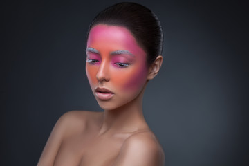 Creative face paint portrait