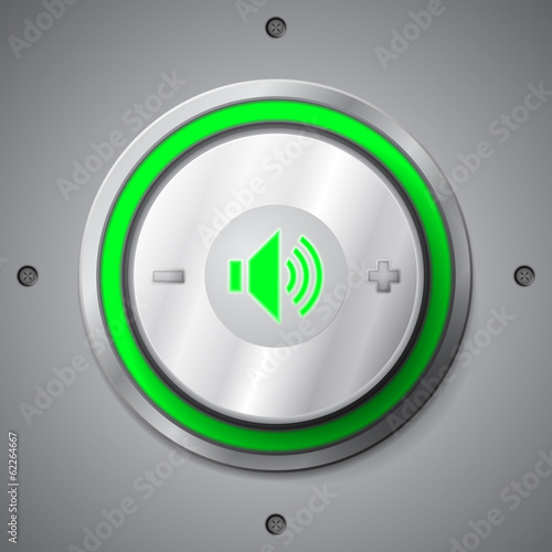 Green color light volume control button