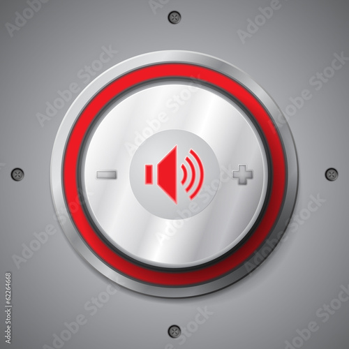 Red color light volume control button