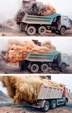 Banner - Dust explosion when loading truck at the mine