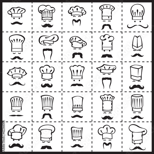 mustachioed chefs set
