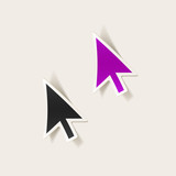 realistic design element: cursor, arrow