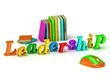 Leadership 3d inscription bright volume letter