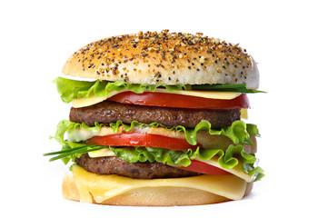 Humburger on white backgruond.