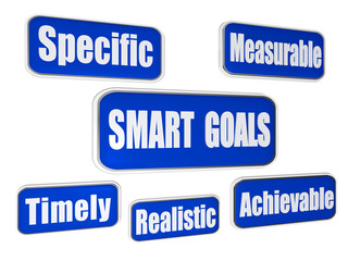 smart goals - blue business concept banners