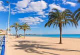 Alicante Postiguet beach at Mediterranean sea in Spain