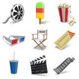 3D Iconset Kino