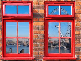 vindow view onLondon eye