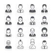 Business people avatar icons.
