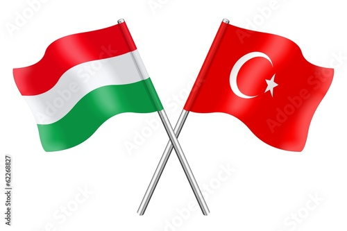 Flags: Hungary and Turkey